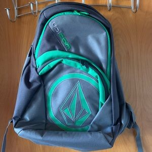 Volcom Backpack with Laptop Sleeve Green and Grey